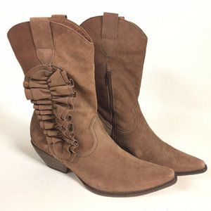Klub Nico Anthropologie Brown Leather Cowgirl Boot